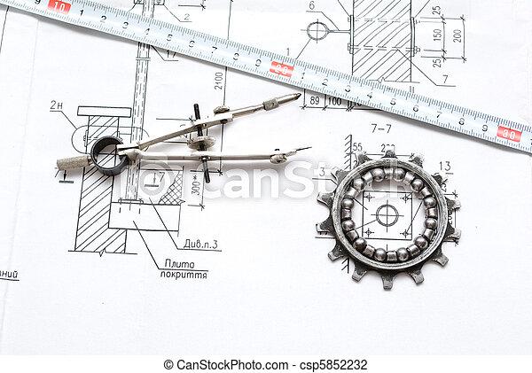 gereedschap, werkende  - csp5852232