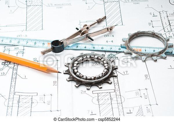 gereedschap, werkende  - csp5852244