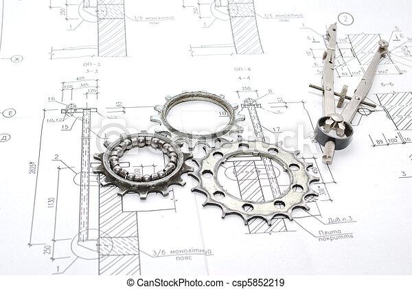 gereedschap, werkende  - csp5852219