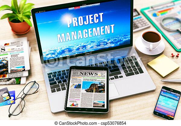 El concepto de manejo del proyecto - csp53076854