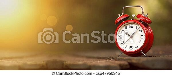 Pancarta de gestión temporal - csp47950345