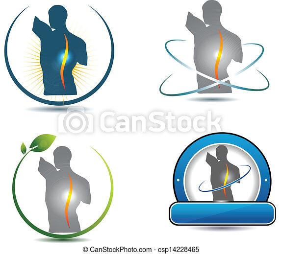 gerinc, jelkép, egészséges - csp14228465