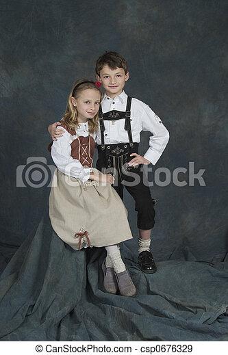 German Children - csp0676329