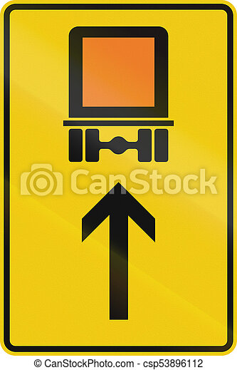 German Direction Sign For Transport Of Dangerous Goods