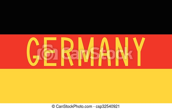 german flag and word germany german flag in correct proportions and