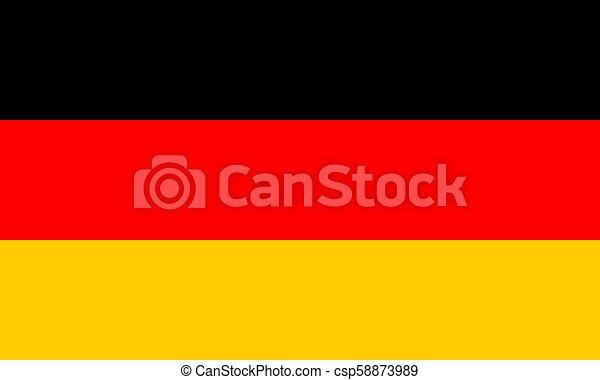 German flag, flat layout, vector illustration - csp58873989