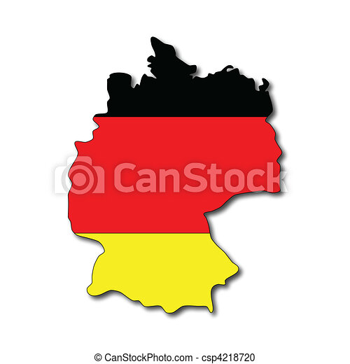german flag on a map of germany vector clipart search illustration rh canstockphoto com germany clipart map germany clipart black and white
