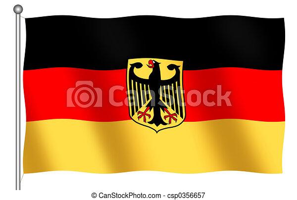 German Flag with Emblem - csp0356657
