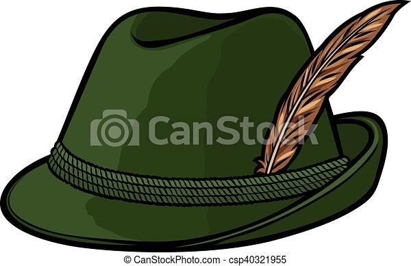 german hunting hat - csp40321955
