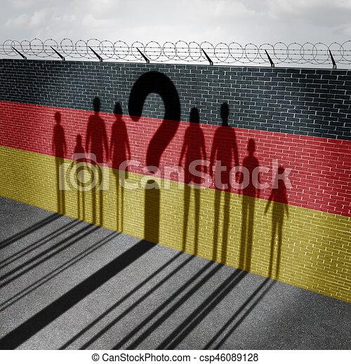 German Immigration Question - csp46089128