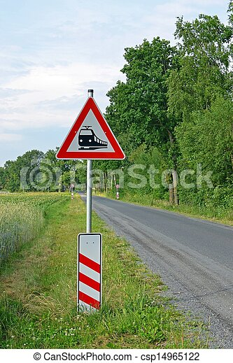German Level Crossing Sign