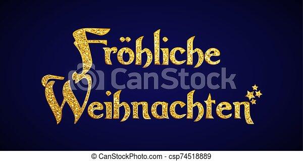 German Merry Christmas concept - csp74518889