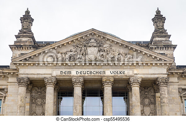 German parliament, Reichstag building in Berlin, Germany - csp55495536