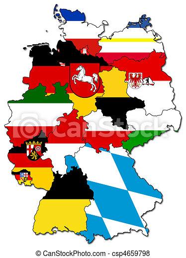 german provinces(states) - csp4659798