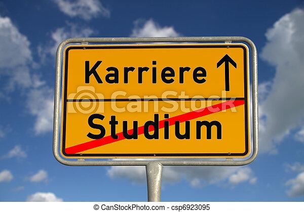 German road sign study and career - csp6923095