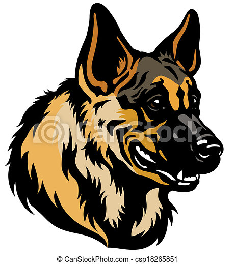 german shepherd head rh canstockphoto com German Shepherd Vector german shepherd lego