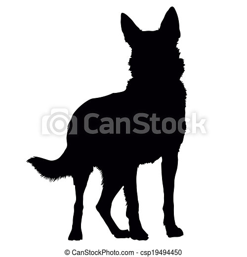 german shepherd silhouette a black silhouette of a standing german