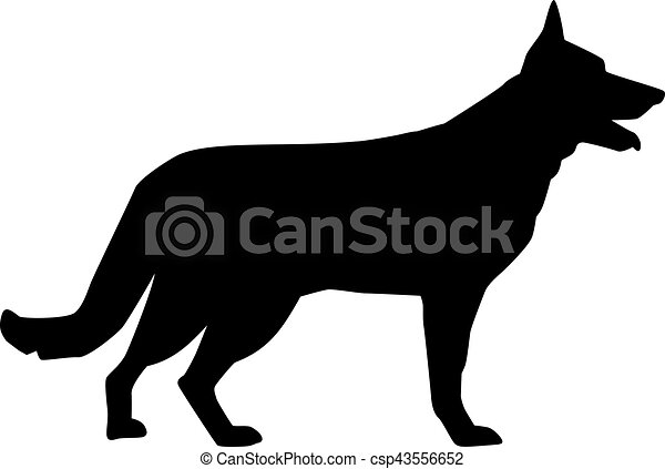 german shepherd silhouette clipart vector search illustration rh canstockphoto com german shepherd clipart free german shepherd head clipart