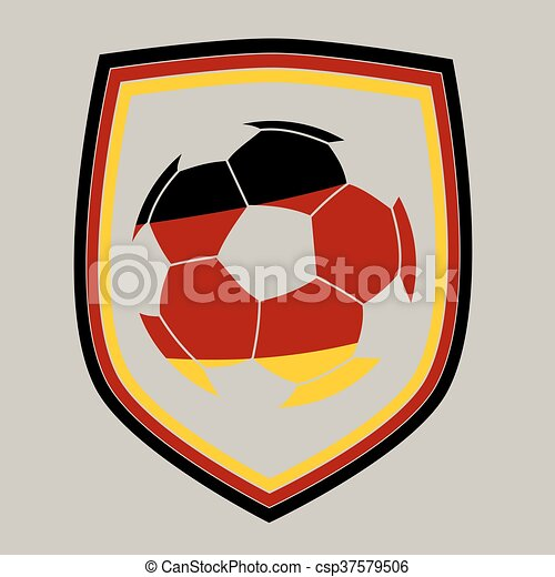 German Soccer Label Soccer Ball With The German Flag