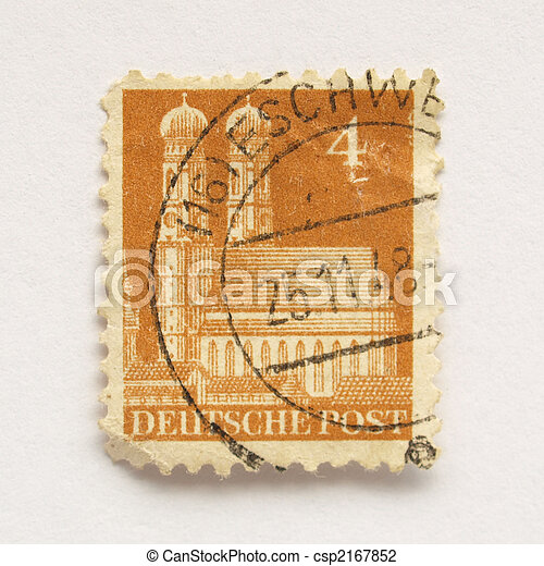 German Stamp Postage From Germany European Union