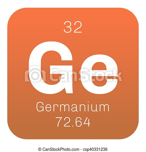 Germanium chemical element metalloid in carbon group a chemical element metalloid in carbon group a semiconductor colored icon with atomic number and atomic weight chemical element of periodic table urtaz Gallery