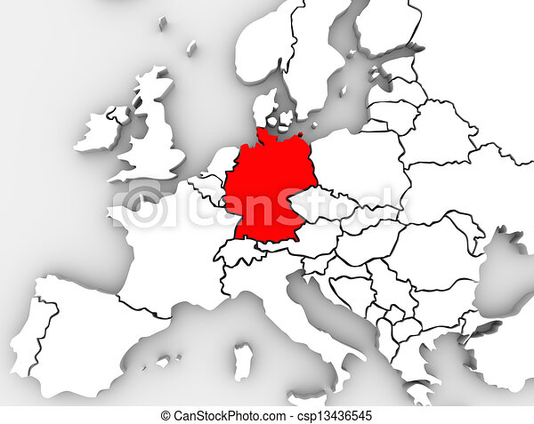 Germany Abstract Map Europe Region German Country European - Germany map in europe