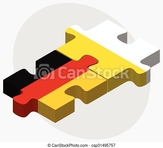 Germany and Holy See - Vatican City State Flags - csp31495757