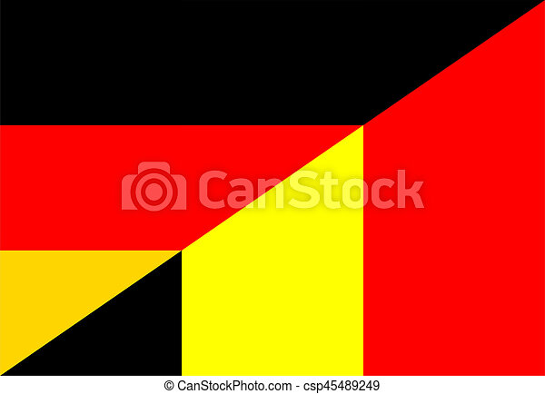 germany belgium flag germany belgium neighbor countries half flag