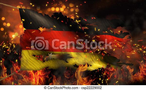Algeria Flag Burning