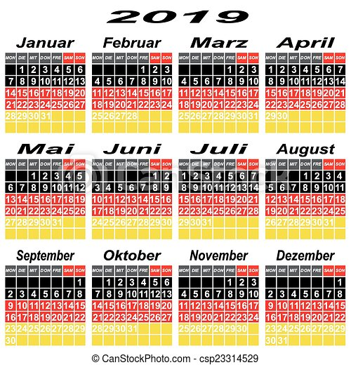 Germany Calendar Of  Calendar Event Personal  Vector