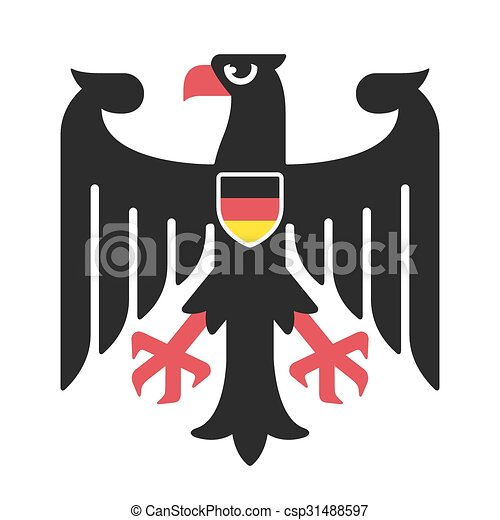 Germany coat of arms eagle - csp31488597