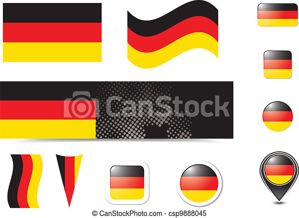Germany flag and buttons - csp9888045