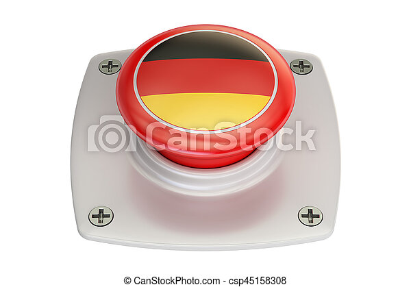 Germany flag push button, 3D rendering - csp45158308