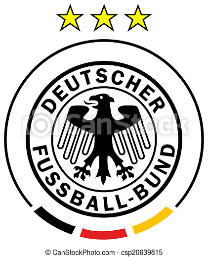 Vector Clipart - German flag football. Vector Illustration gg71128381 -  GoGraph