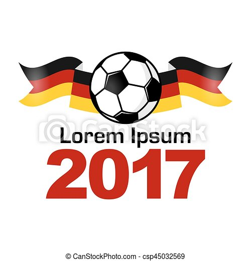 Germany Football Sport Icon Emblem Stylized Concept Web Banner On