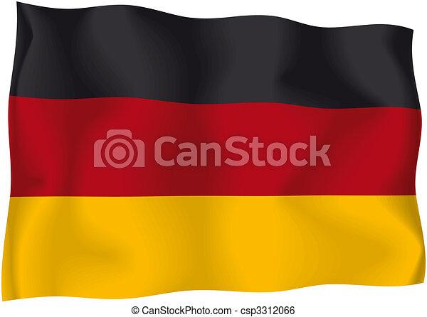 Germany - German flag - csp3312066