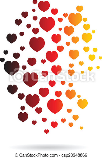 Germany Hearts Map image logo - csp20348866