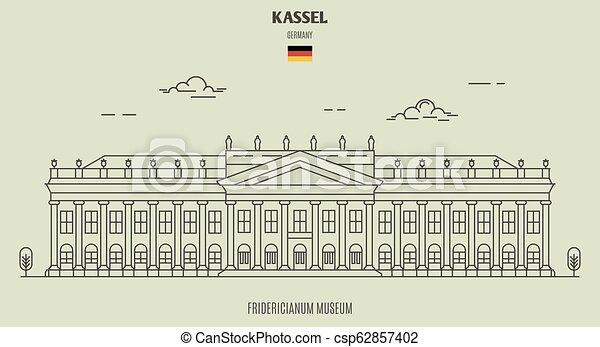 germany., kassel, repère, musée, fridericianum, icône - csp62857402