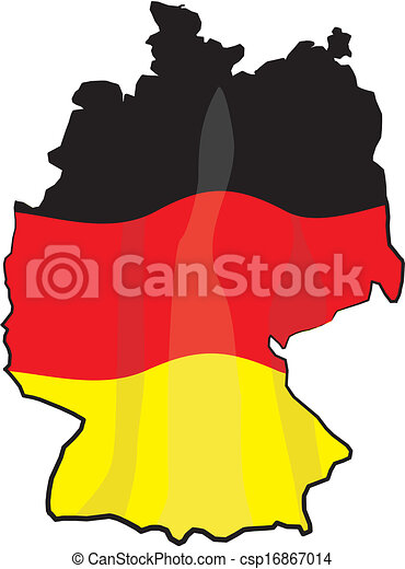 germany map and flag outline of poland with national vector rh canstockphoto com german clip art images germany clip art free