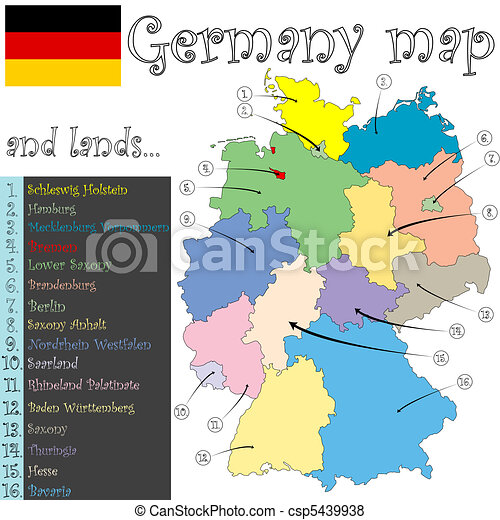 germany map and lands - csp5439938