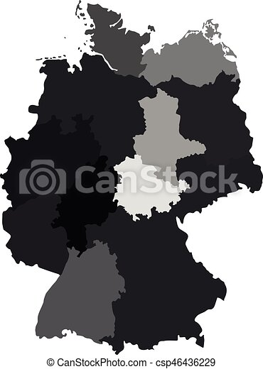 germany map divided on regions for infographic csp46436229