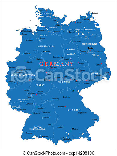 Map Of Germany Regions.Germany Map