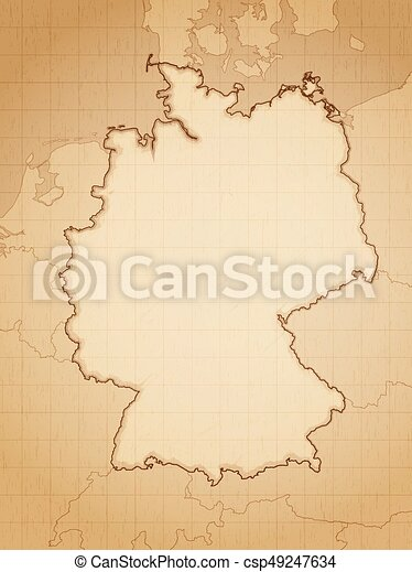 Vectors Of Germany Map Vintage Aged Map Of Germany Vector - Germany map eps