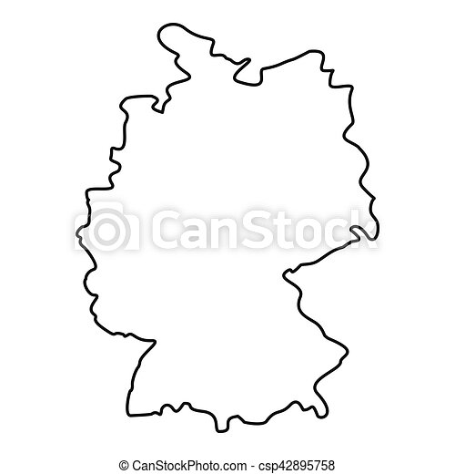 Map Of Germany Outline.Germany Map Icon Outline Style Germany Map Icon Outline