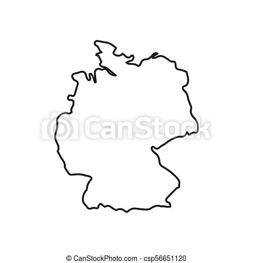 Map Of Germany Outline.Germany Map Icon Outline Style Germany Map Icon Outline Germany