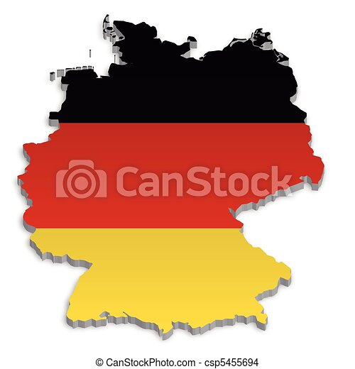 EPS Vector Of Germany Map A Simple D Map Of Germany - Germany map eps