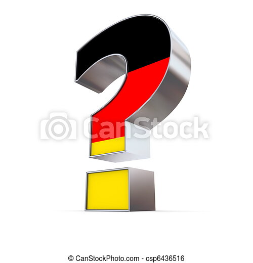 Germany Question Mark Metallic Question Mark With The German Flag