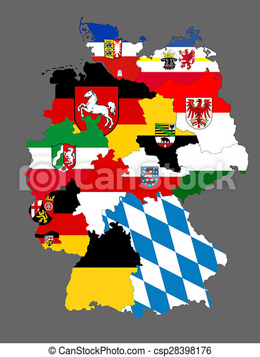 germany regions flag map csp28398176
