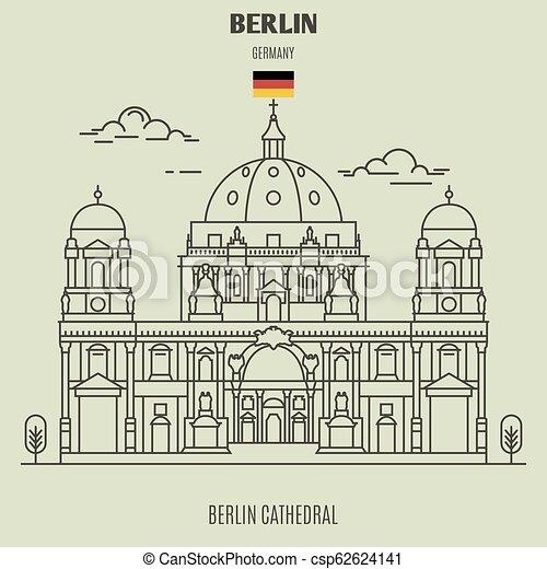 germany., repère, icône, cathédrale, berlin - csp62624141