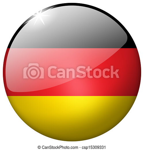 Germany Round Glass Button - csp15309331